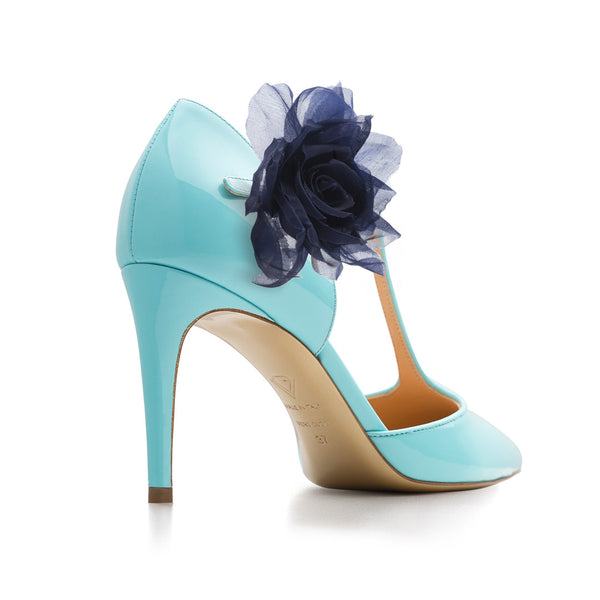 New Tango Blu Cielo with Blu Flowers