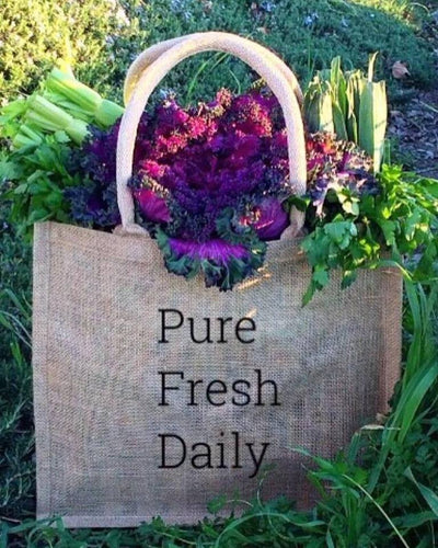 The Pure Fresh Daily Burlap Market Bag