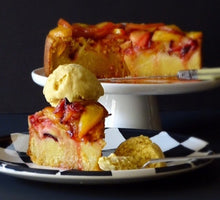 Nectarine and Plum Upside Down Cake