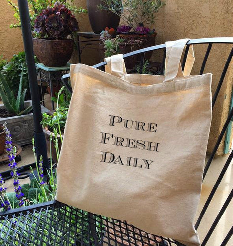The Pure Fresh Daily Canvas Tote Bag