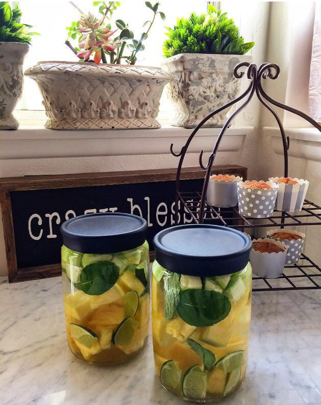 Pineapple Lime & Cucumber Spa Water