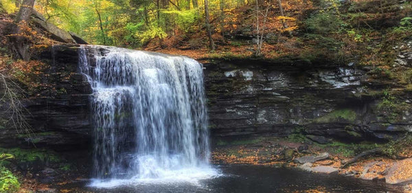 Hike Ricketts Glen State Park Benton Pennsylvania