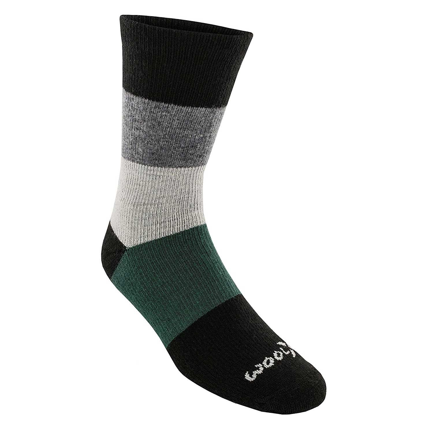 Mens Merino Wool Socks - Spruce Stripe