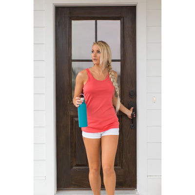 Merino Wool Tank - Spiced Coral