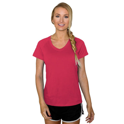Women's Mia Short Sleeve V Neck - Flamingo