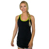 Womens Athletic Tank Top - Black Citrus
