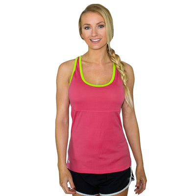 Merino Wool Tank Top - Flamingo Citrus