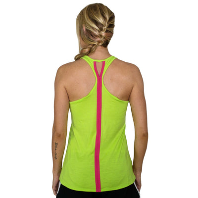 Womens Work Out Top - Citrus Flamingo