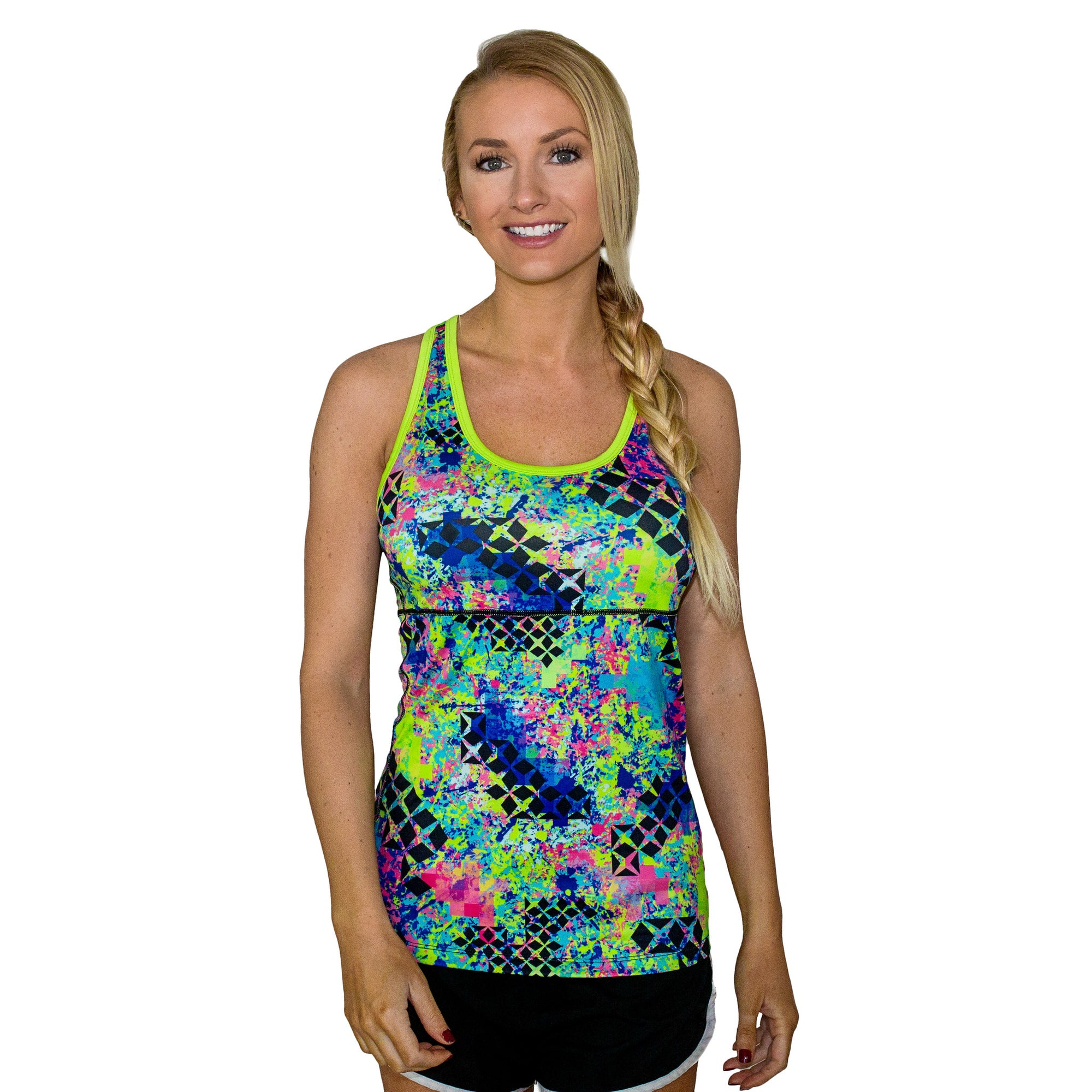 The Ava Womens Racerback Tank - Graffiti Splash