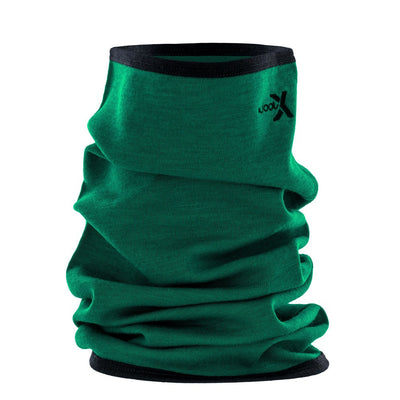 Woolx Midweight Merino Wool Long Neck Gaitor - Emerald Black