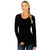 Women's Eva Long Sleeve Tunic - Black