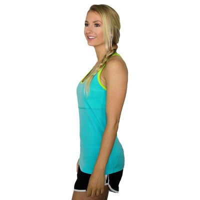 Womens Athletic Tank Top - Paradise Citrus