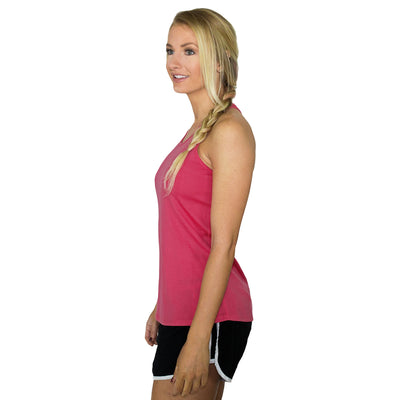 Womens Work Out Top - Flamingo Black