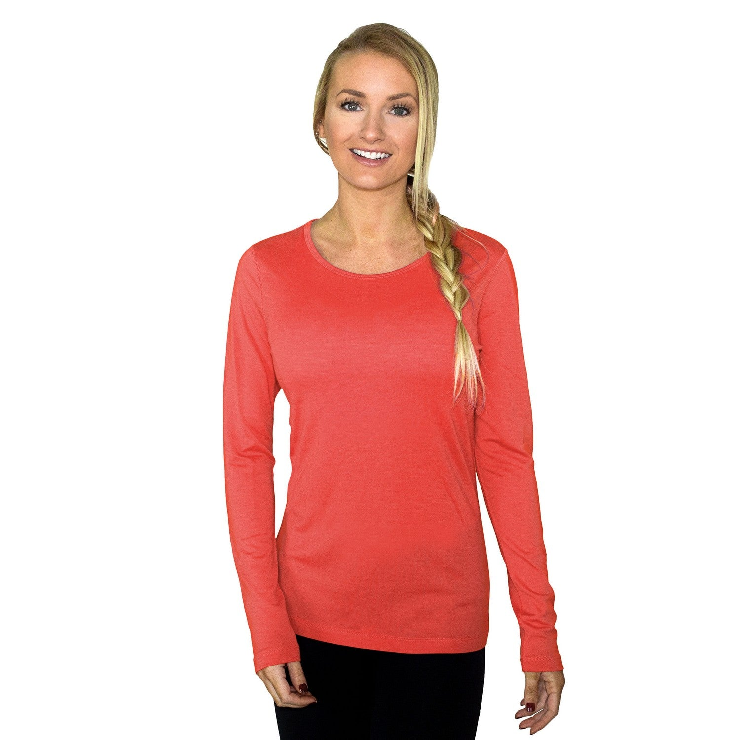 Women's Remi Long Sleeve T-Shirt - Spiced Coral