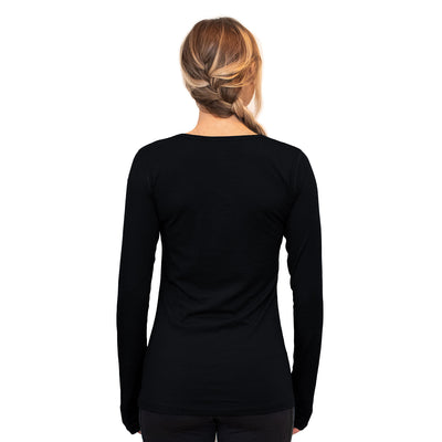 Woolx Layla V Neck - Black