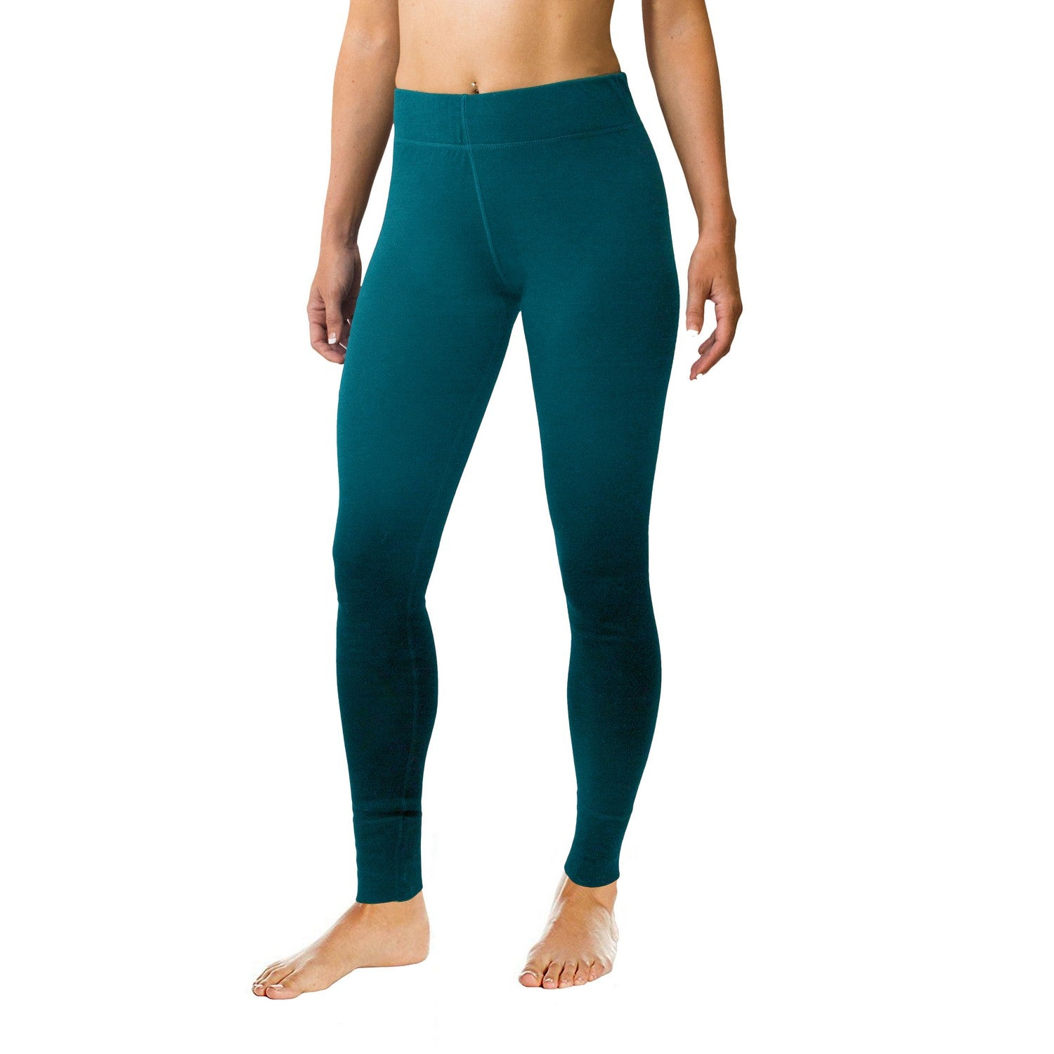 Merino Wool Leggings - Midnight Teal