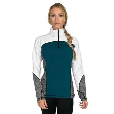 Womens Performance Wear Sweatshirt - Midnight Teal Melange