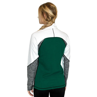 Women's Merino Wool Thermal Top - Rain Forest Melange