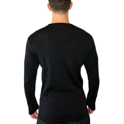 Warmest Men's Base Layer Top - Black