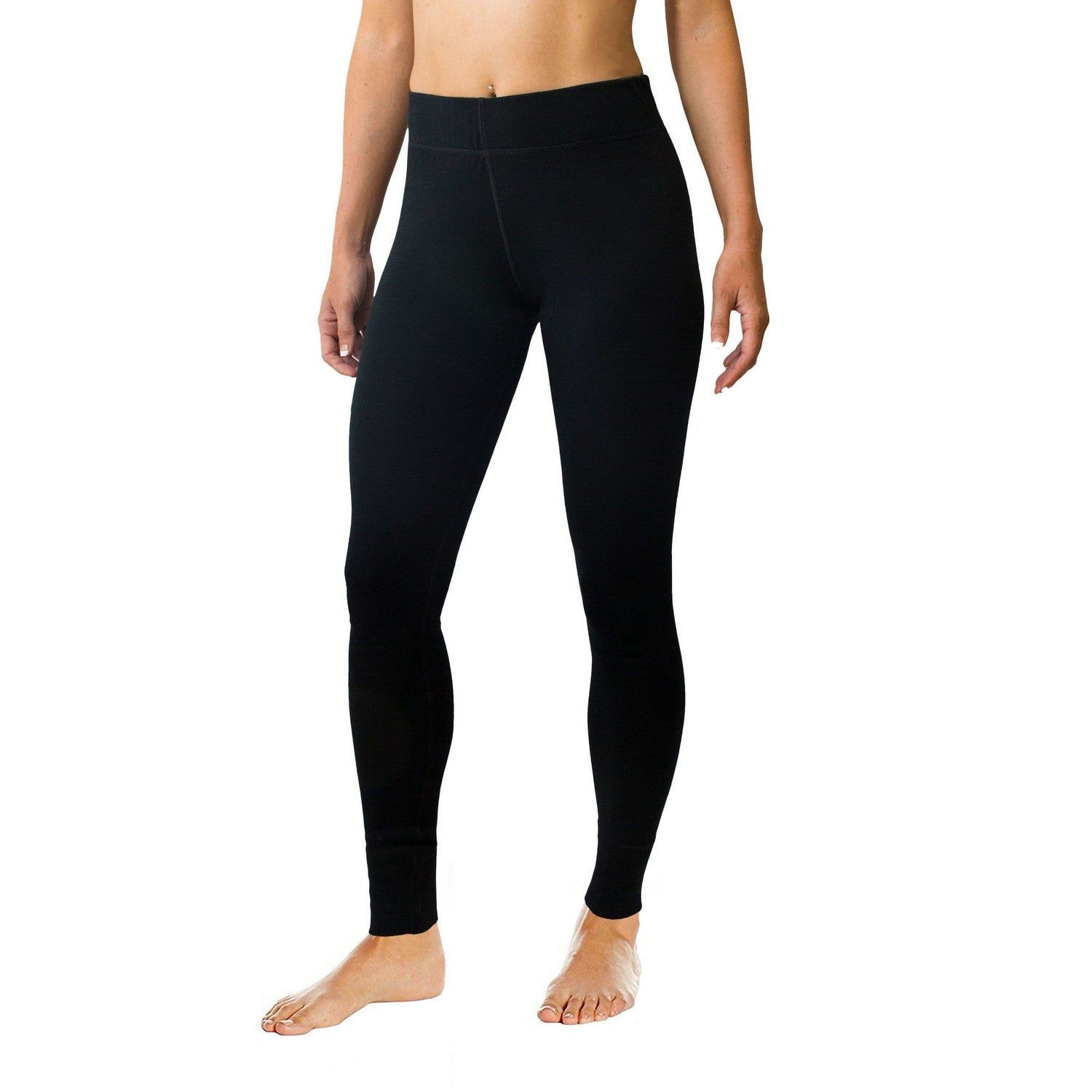 Woolx Women's Nora Heavyweight Bottoms - Black