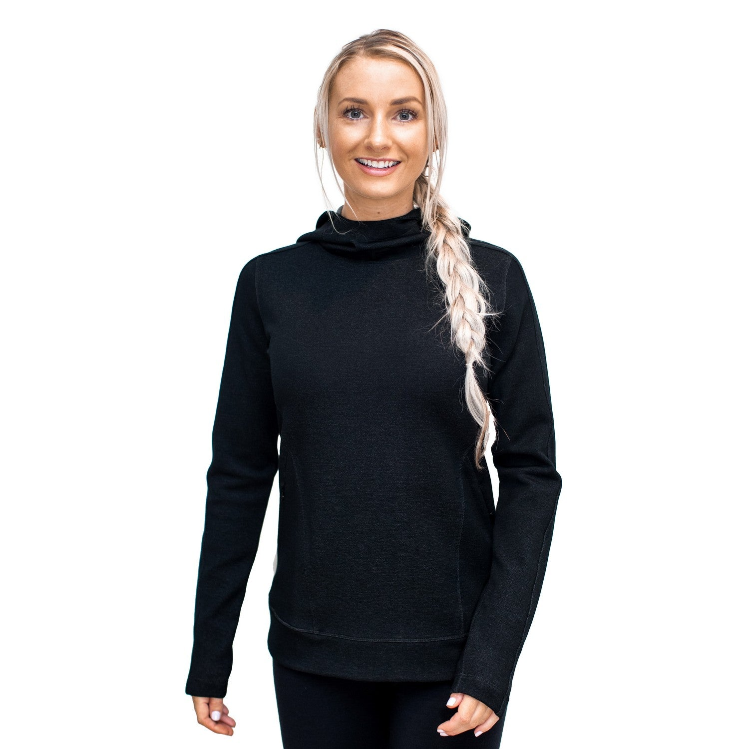 Merino Wool Sweatshirt - Black