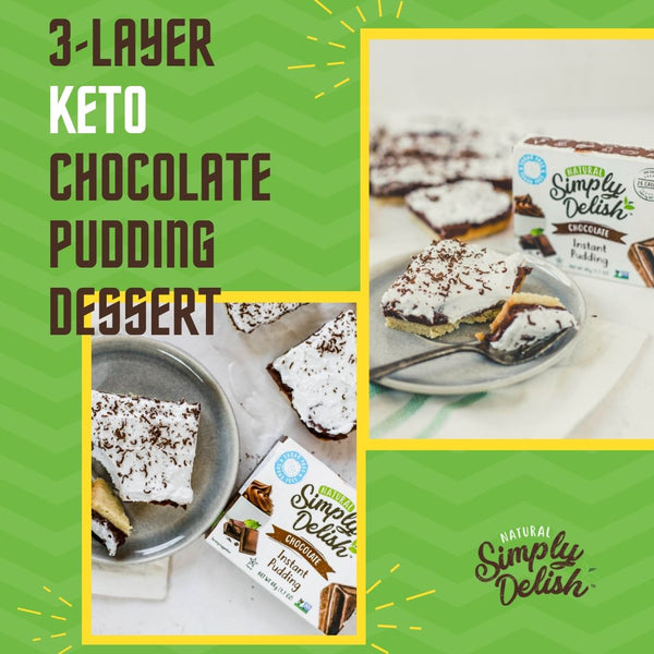 3-LAYER KETO CHOCOLATE PUDDING DESSERT