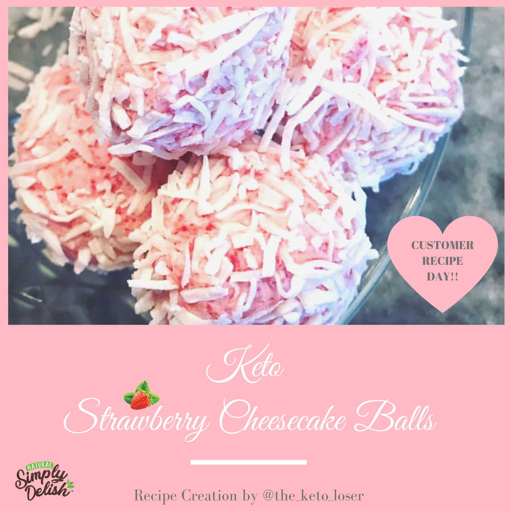 KETO STRAWBERRY CHEESECAKE BALLS