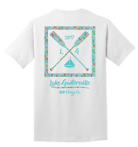 Lake Guntersville Paddle Shirt - Sailboat Pattern