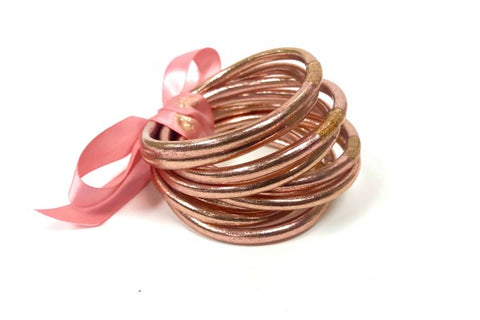 BuDhaGirl Christian Prayer Bangle - Rose Gold