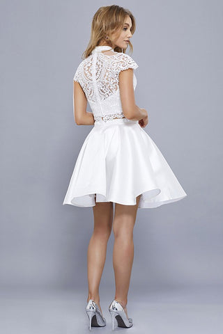 white two piece homecoming dress