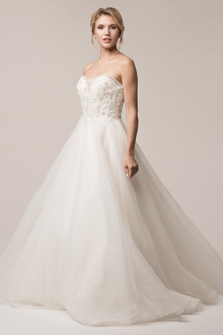 strapless a-line ball gown wedding dress- simply fab dress
