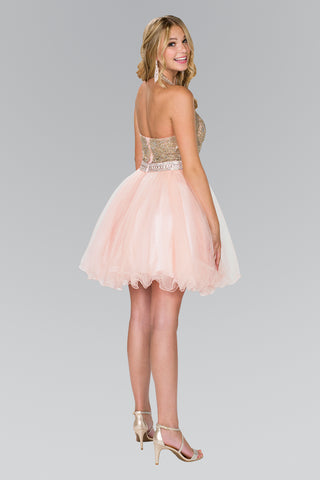 Beaded top short homecoming dress