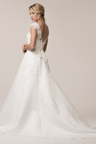 cap sleeve a-line wedding dress