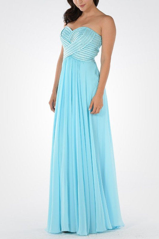 Long chiffon Bridesmaid dress BB 097-714 - Simply Fab Dress