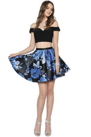 Two piece short prom dress js805-Simply Fab Dress