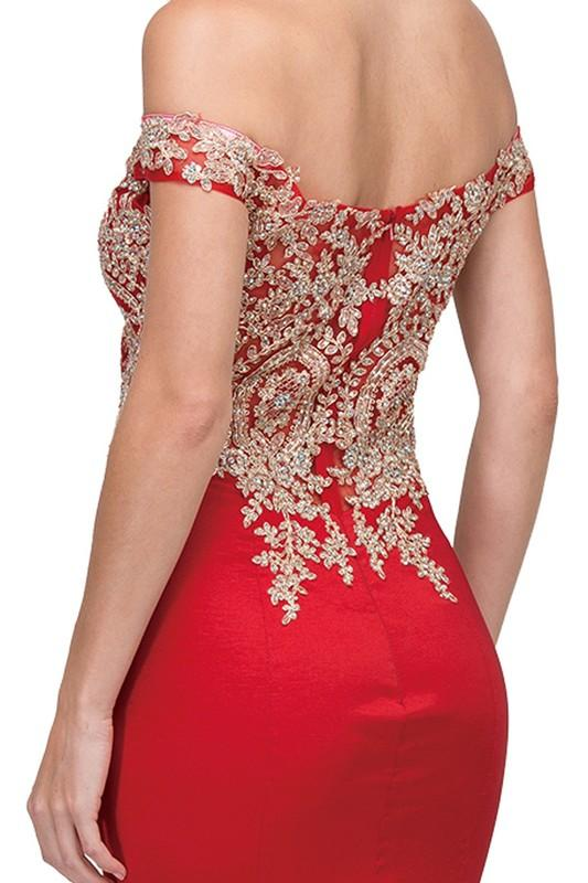 Sparkly off the shoulders mermaid prom dress dq2413-Simply Fab Dress
