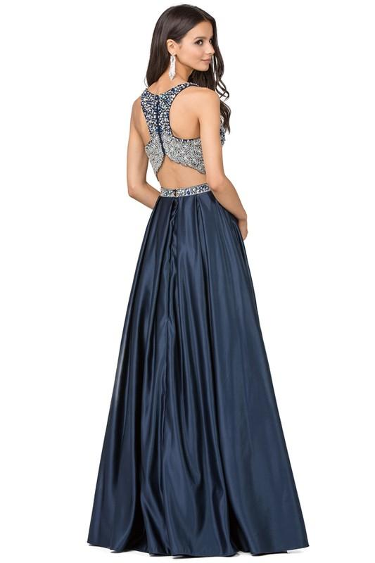 2 piece homecoming dress Dq2243 -CLOSEOUT - CLOSEOUT-Simply Fab Dress