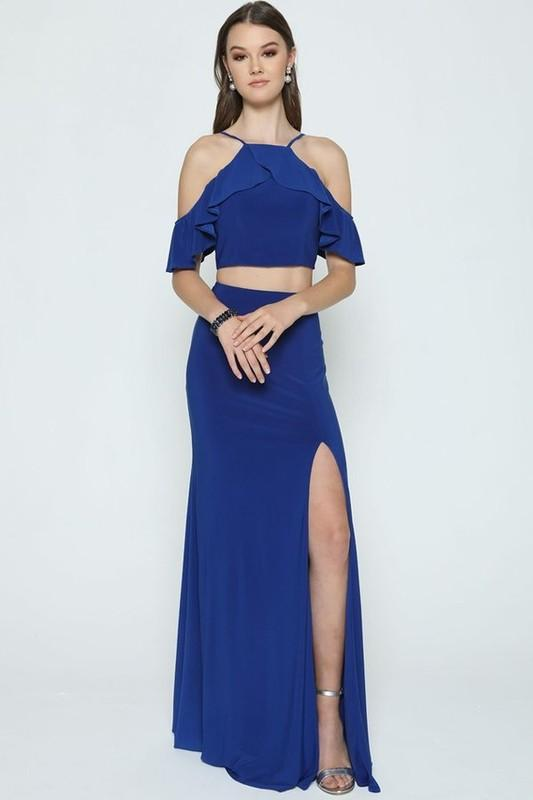 Off the shoulder two piece homecoming dress JL662-Simply Fab Dress