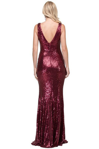 Long sequins prom dress dq2434