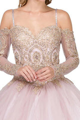 Long sleeve Quinceanera Dress DQ1282-Simply Fab Dress
