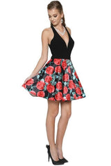 Short floral homecoming dress js806-Simply Fab Dress