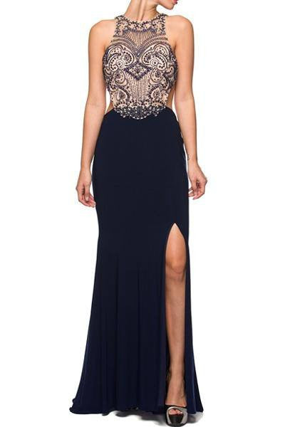 sexy cut back floor length dress 105-613 Prom dress - Simply Fab Dress