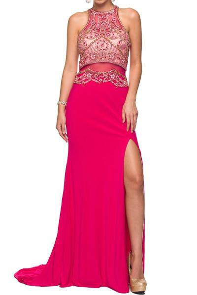 Cheap Halter top floor length dress 105-617 Prom dress - Simply Fab Dress