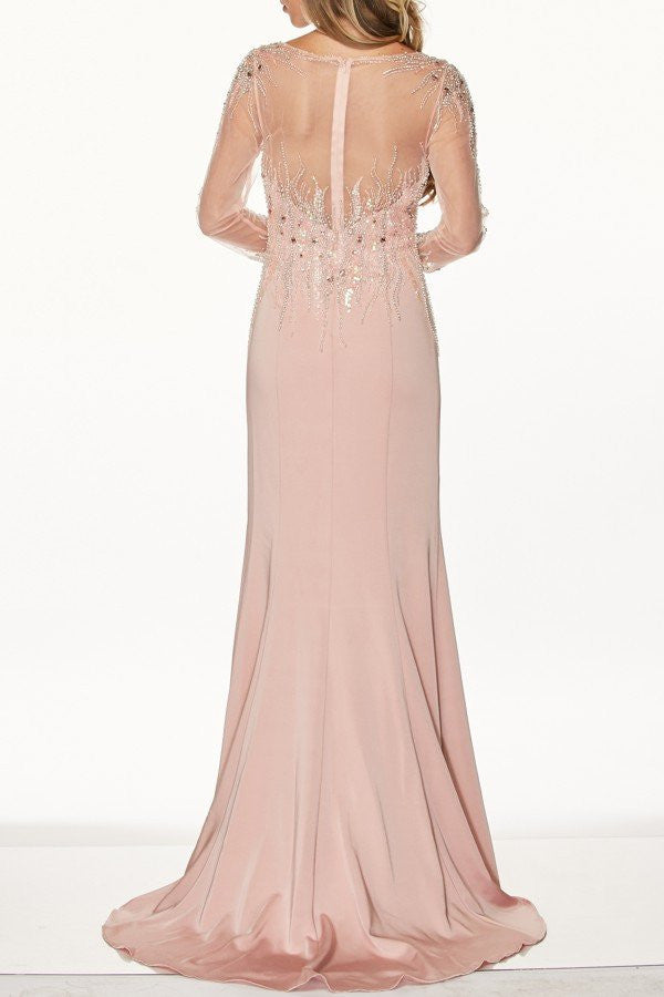 long sleeve full beaded evening gown 105-646 Prom dress Evening gown ...