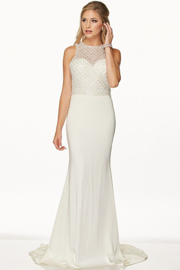 informal ivory vow renewal wedding dress 105-649w – Simply Fab Dress