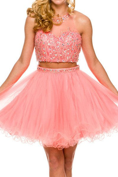Beaded top two piece homecoming  Dress 105-752 - Simply Fab Dress