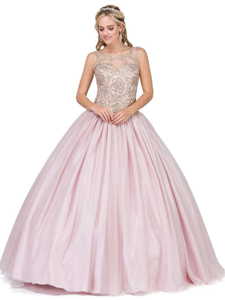 Dusty Pink Quinceanera Dress DQ 1101-Simply Fab Dress