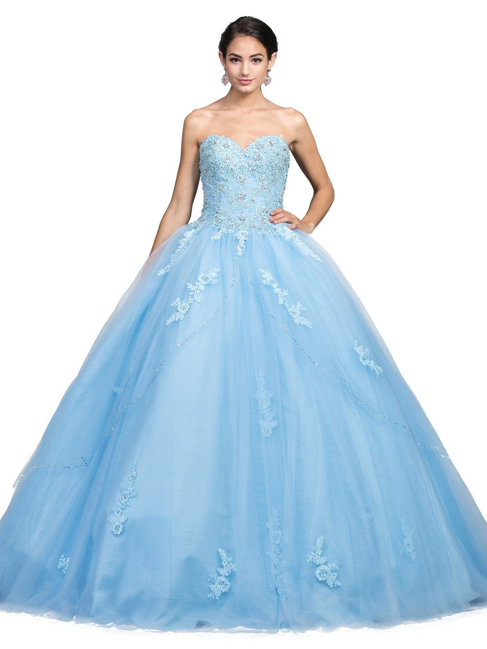 Sky blue Quinceanera dress Dq1224-Simply Fab Dress