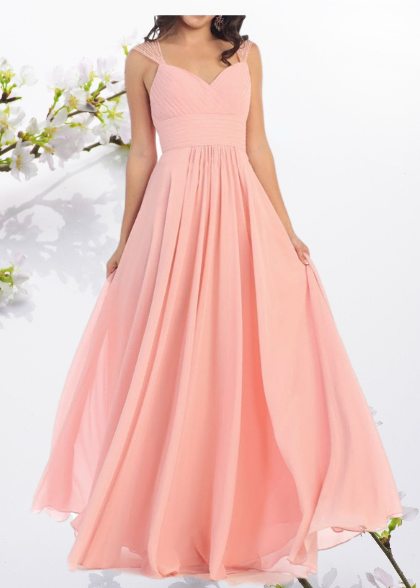 Affordable bridesmaid dresses long chiffon dresses simply fab chiffon bridesmaid dress mq1275sku fabmq1275lovely sheer beaded strap sweetheart neckline long chiffon bridesmaid dress this gorgeous empire waist ombrellifo Gallery