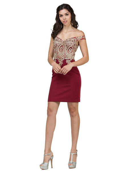 Tight Homecoming Dress Short DQ2001-Simply Fab Dress